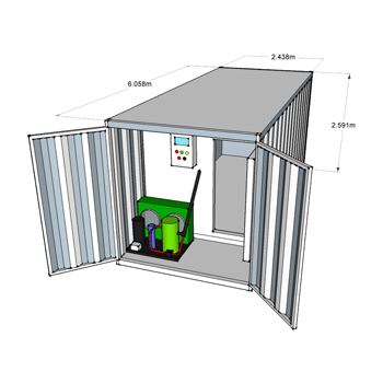 Movable Cold Room With Container